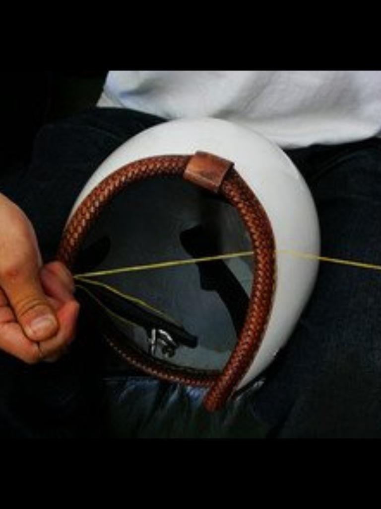 本革縫い付けヘルメットジェット
