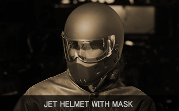JET HELMET WITH MASK